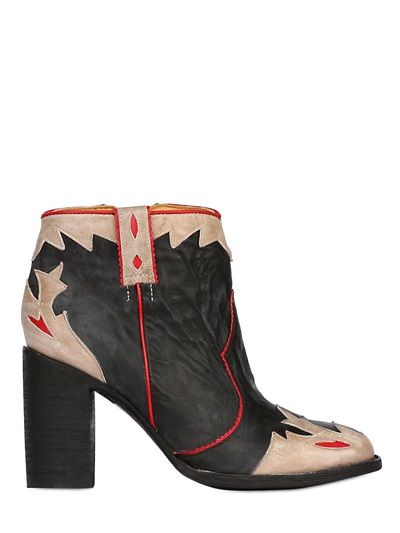 Mexicana Ankle Leather Shangai 70mm Cowboy Boots vm0n8wNO