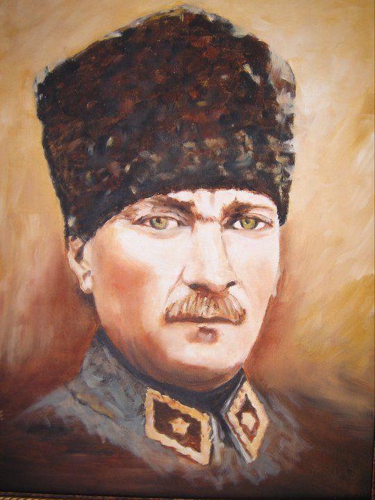 Gazi Mustafa Kemal Ataturk Yagli Boya Resimler Feride Soydam Mozaic Sanati Painting Resim
