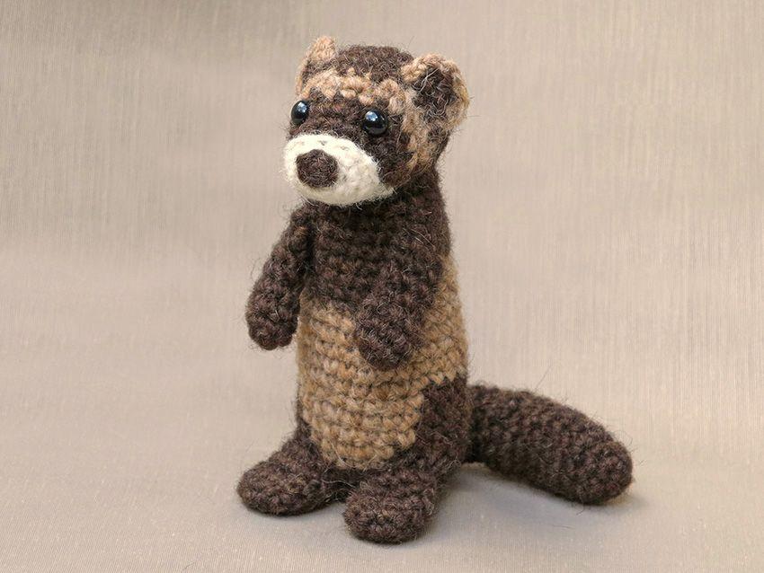 Meet Bunsie, my crochet ferret or polecat pattern. In Europe and ...