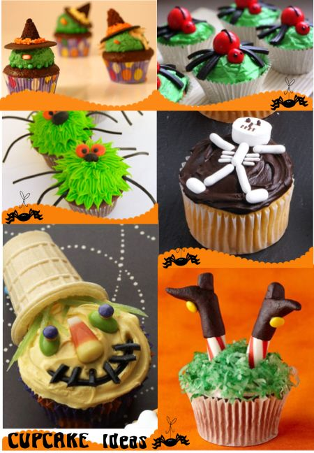 Cupcake Ideas Recipes I Ve Done The Spider As A Round Cake For