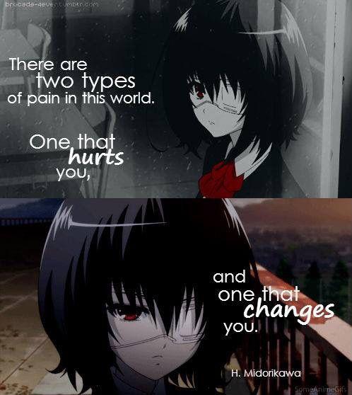 Hay dos tipos de dolor en este mundo: El que te daña y el que te cambia.  @sukigamer88 
