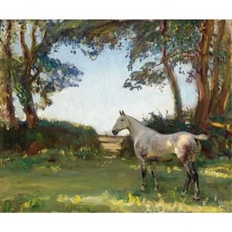 The Grey Mare By Sir Alfred James Munnings