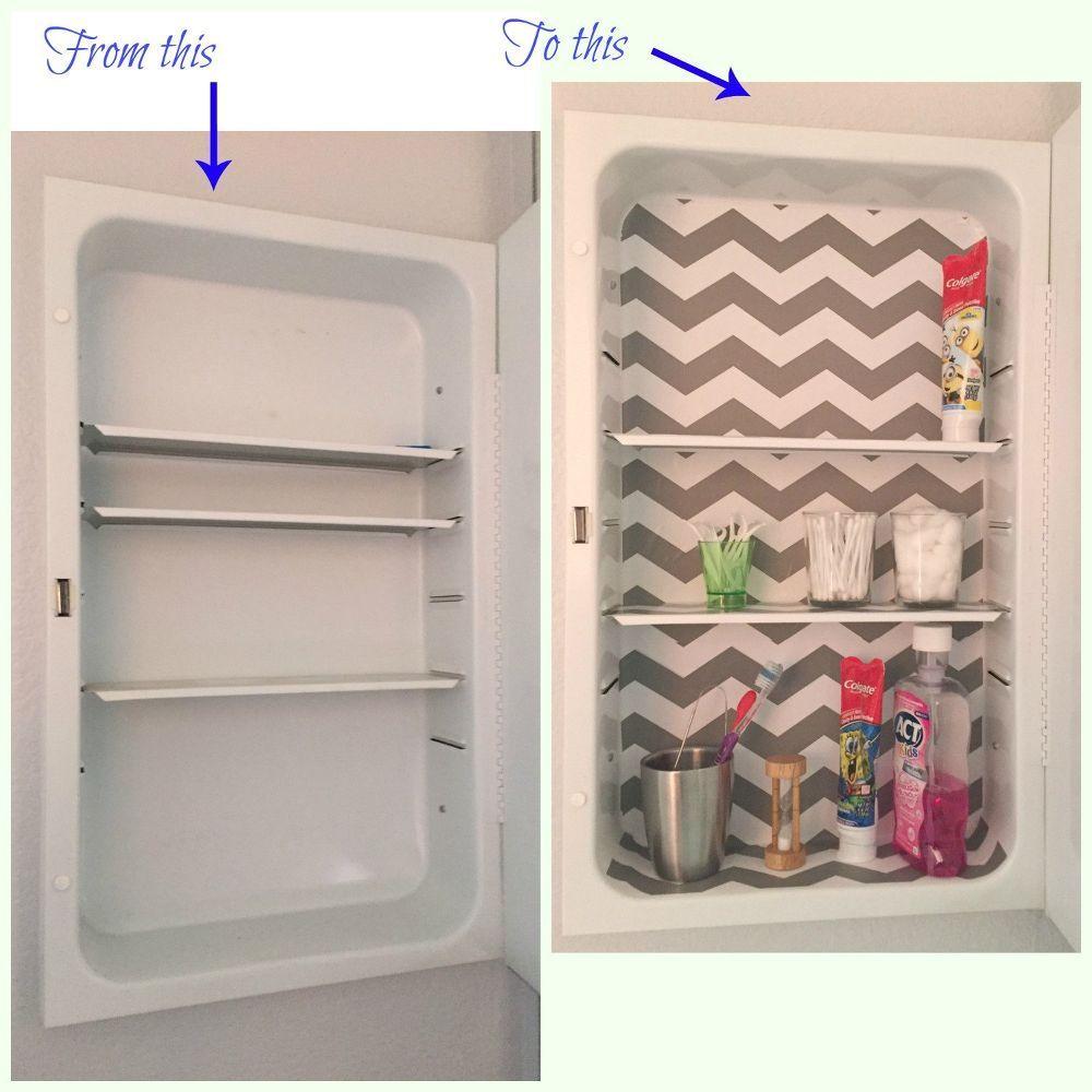 Medicine Cabinet Makeover For Less Than 2 Bathroom