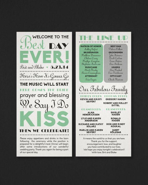 Printable Wedding Program Best Day Ever The By DesignDeliver