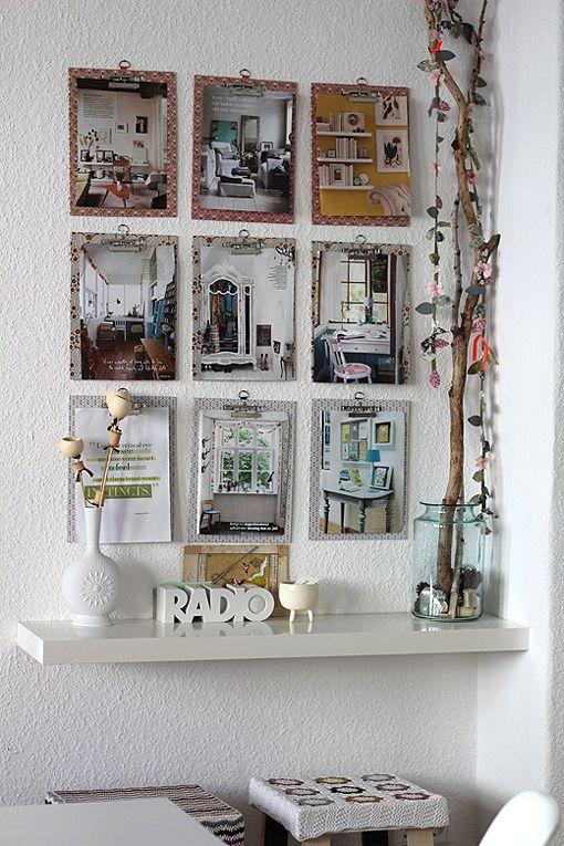 decorar la pared con carpetas de clip decoratrix decoracin diseo e interiorismo