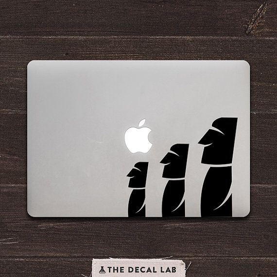 Hey, I found this really awesome Etsy listing at https://www.etsy.com/listing/225842615/moai-easter-island-statues-vinyl-macbook