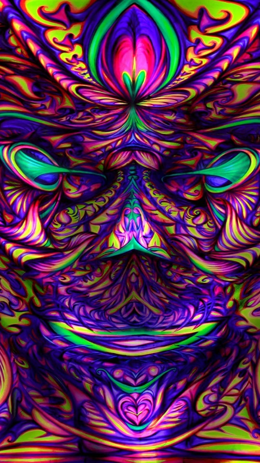 HDScreen Artwork colors psychedelic trippy desktop