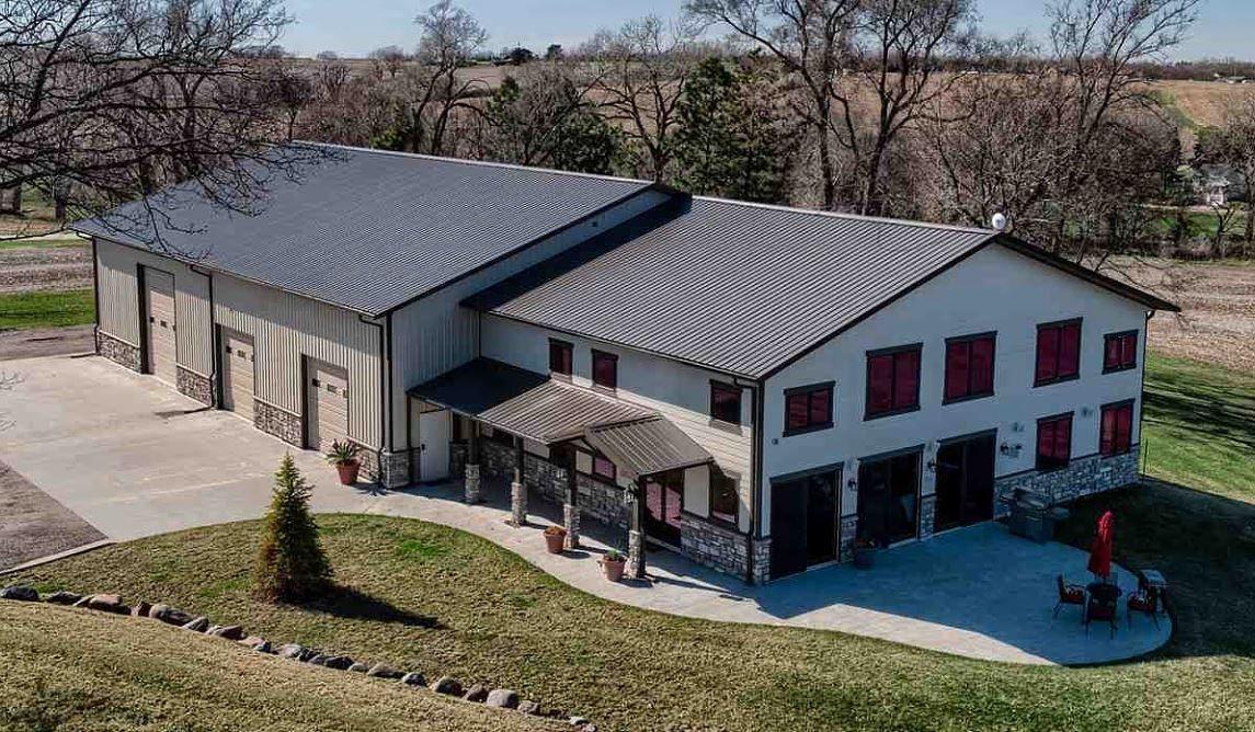 Custom Designed Barndominium With Over Sized Shop Pool Barn House Barn House Plans Barn Style House