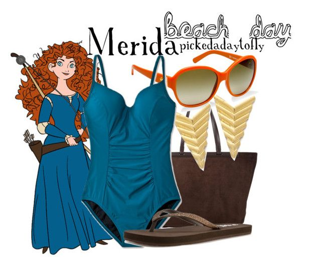 """""""Merida"""" by pickedadaytofly ❤ liked on Polyvore featuring The Row, Tory Burch, Jacquie Aiche, Juicy Couture and Reef"""