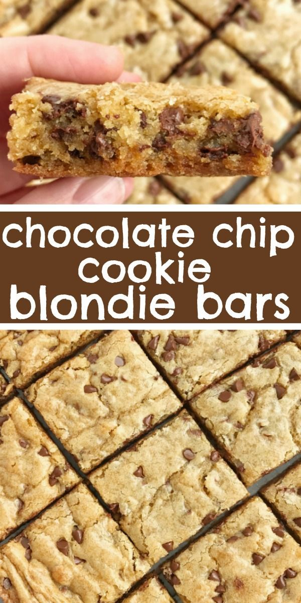 Chocolate Chip Cookie Blondies | Together as Family