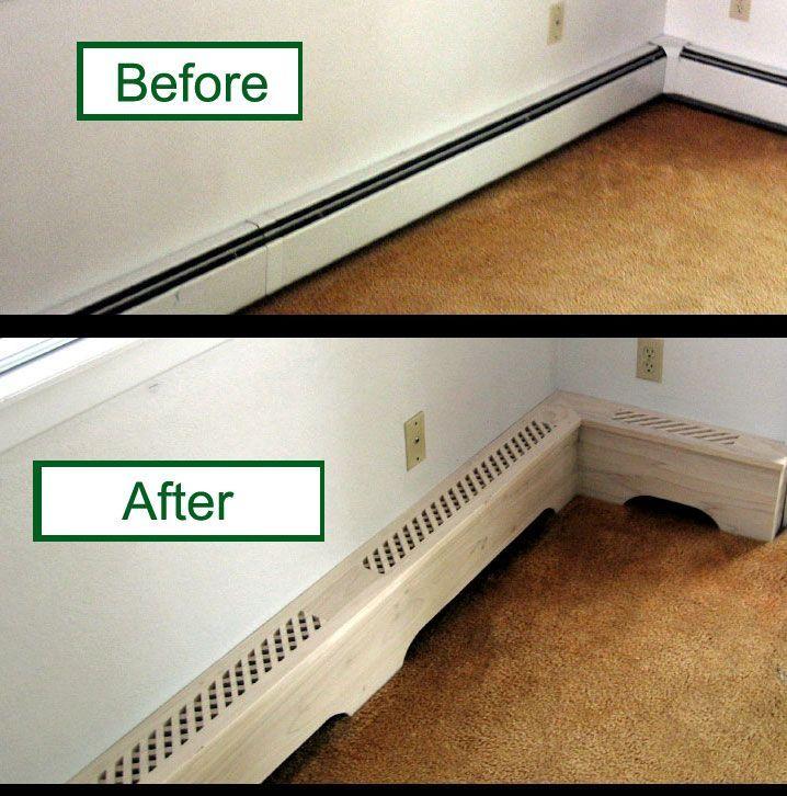 Bathroom Baseboard Ideas: Baseboard Heater Covers **Such A Great Idea, Turn An