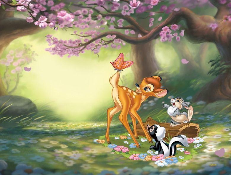 Bambi 'Butterfly Fun' wall mural by ProArt | Disney ...