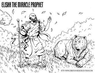 Elisha And The Bears Image By Samach Israel Free Bible Coloring