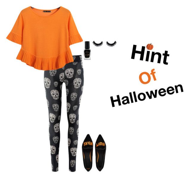 """Hint of Halloween!"" by thatdesign ❤ liked on Polyvore featuring Chicnova Fashion, ASOS, Barry M and Allstate Floral"