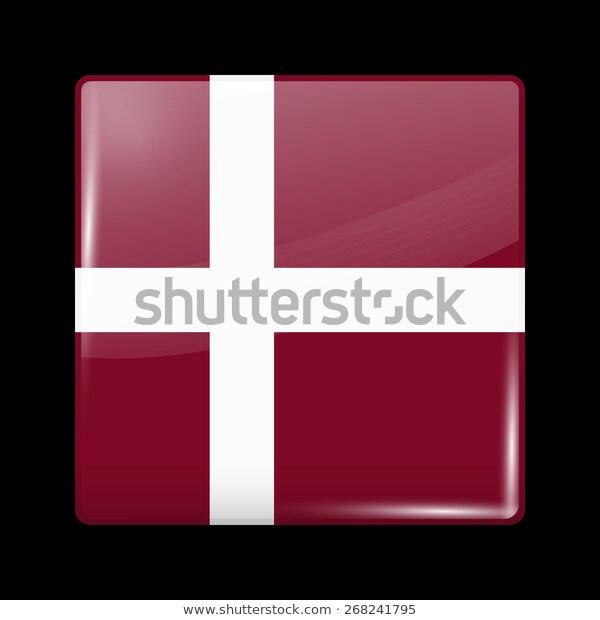 Flag Denmark Glossy Icons Square Shape Stock Vector Royalty Free 268241795 Flag European Flags Denmark Flag