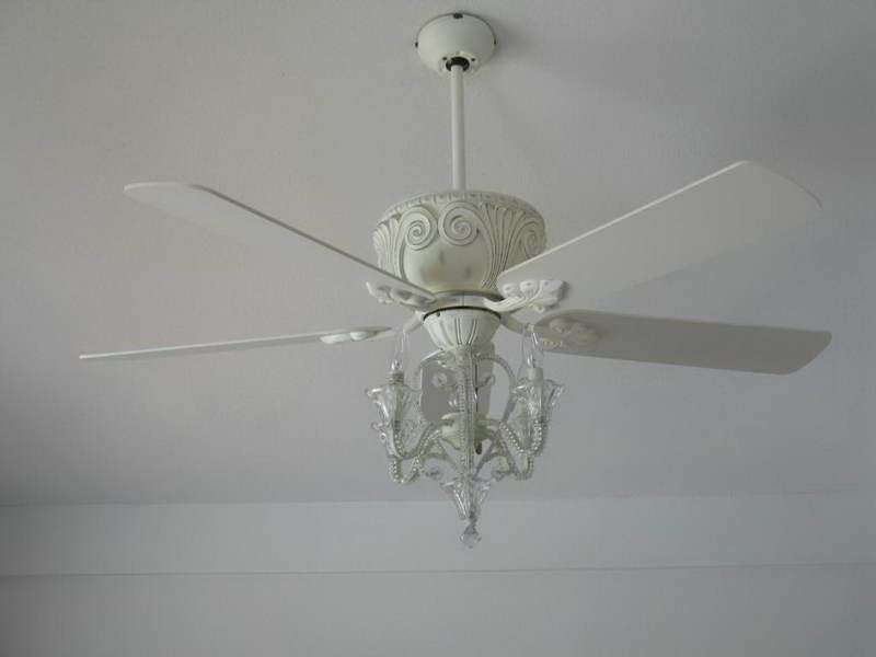 Elegant ceiling fan ceiling fans hampton bay ceiling fans parts with elegant white color - Girl ceiling fans with chandelier ...