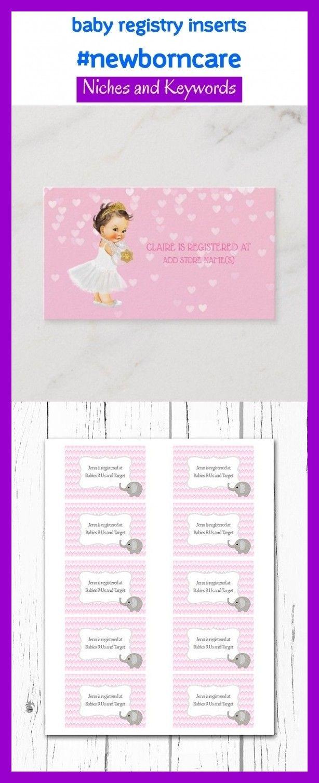 Newborn Care Pinterest Niche   Baby registry checklist ...