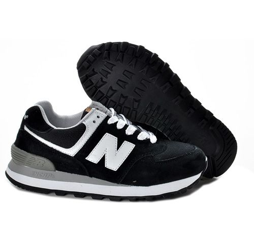 Black White New Balance 574 ML574UC Womens Shoes