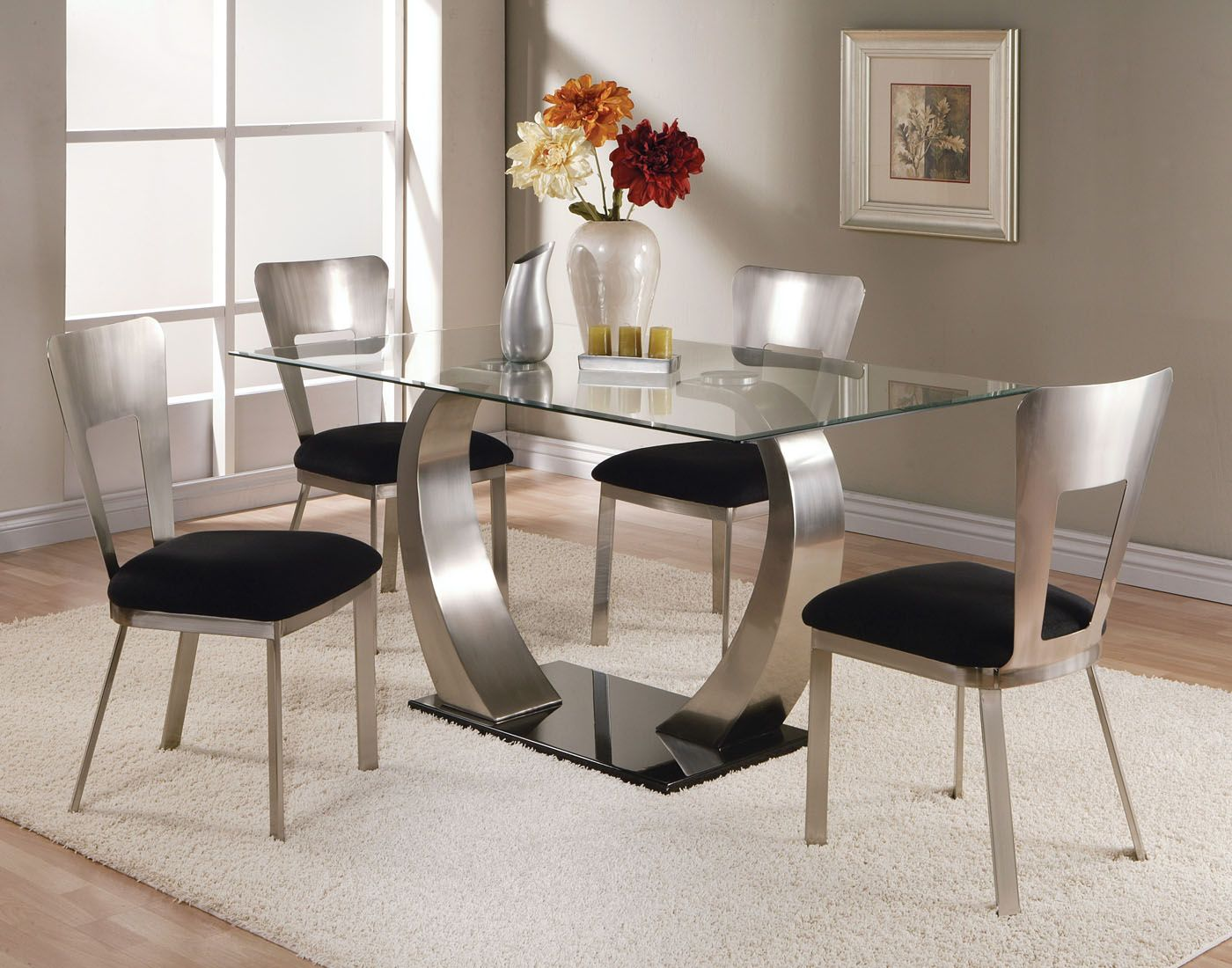 Contemporary dining table bases  Modern dining set So clean looking  Dining set  Pinterest