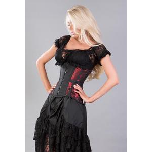 morgana red king brocade underbust corset  underbust