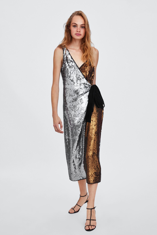 880b112e6853 VESTIDO LENTEJUELAS | Ρούχα που θέλω να φορέσω | Dresses, Fashion ...