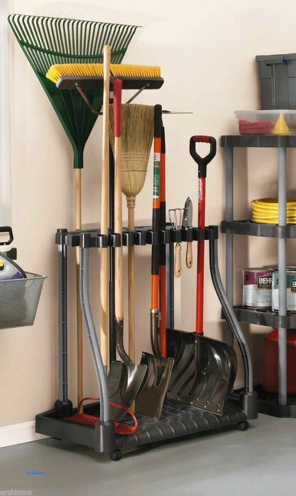 NEW Rubbermaid Tool Rack Storage Tower Garage Kitchen Shed #Rubbermaid