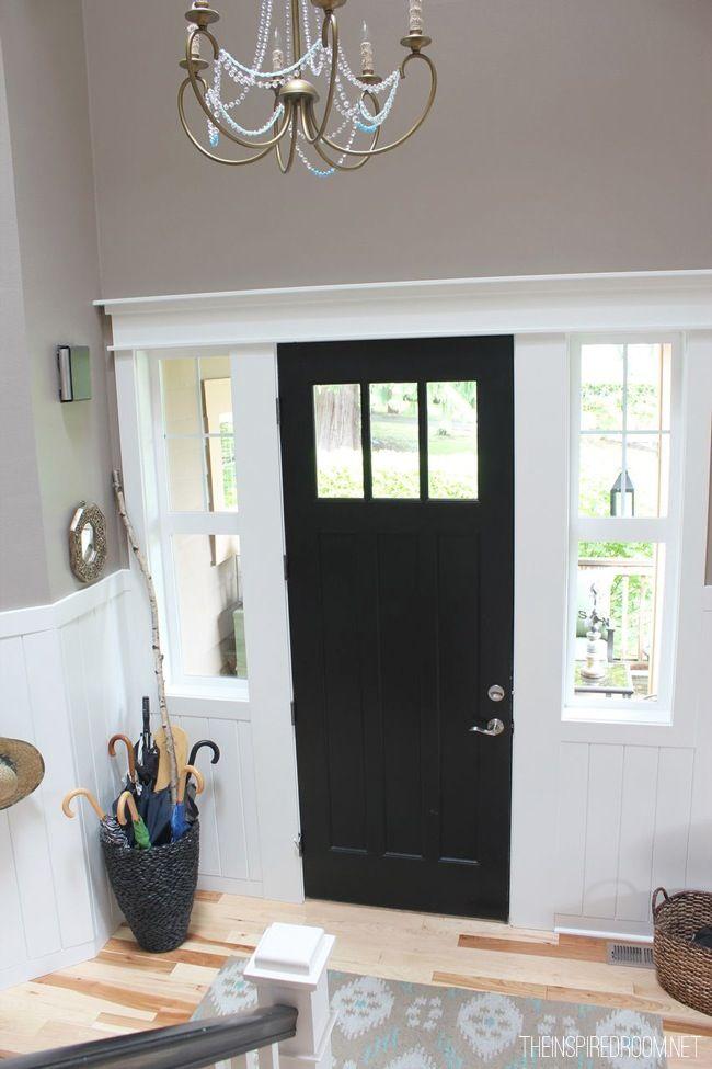Black Door With White Molding Black Interior Doors Doors Interior Inside Front Doors