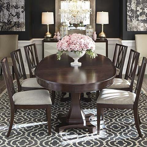 Themeless Thursday With Lots Of Gorgeous Rooms South Shore Decorating Blog Oval Table Dining Dining Room Table Set Oval Dining Room Table