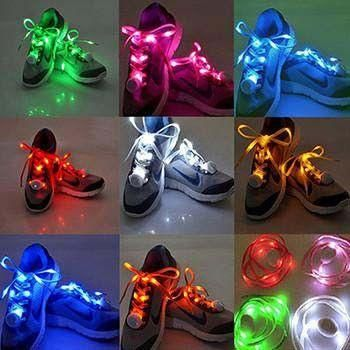 Led Light Up Shoelace W 3 Flash Settings 7 Colors In 2020
