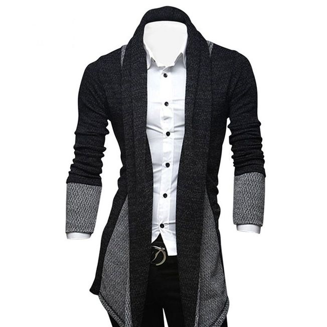 Autumn Spring Korean style Mens simple Lapel Knitwear Cardigan men ...