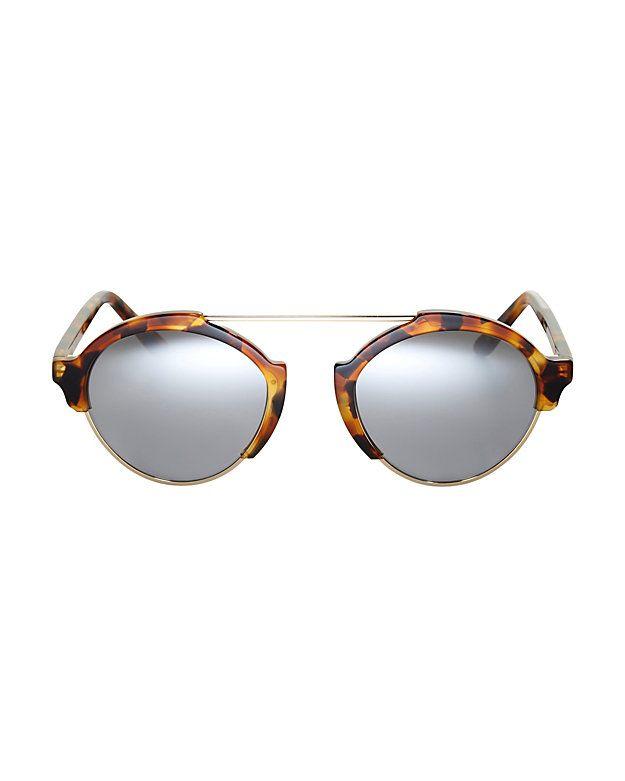 1b5a56e686acd Illesteva Milan III Tortoise Mirrored Sunglasses  A chic