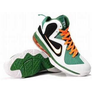 outlet store 53571 e8576 www.asneakers4u.com New Nike Zoom LeBron 9 Shoes Green White Black