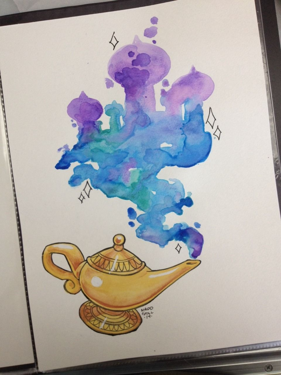 Aladdin Genie Lamp Drawing