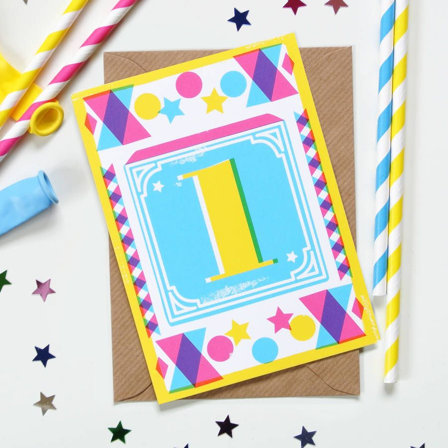 Kids age number block print birthday cards print birthday cards kids age number block print birthday cards bookmarktalkfo Choice Image