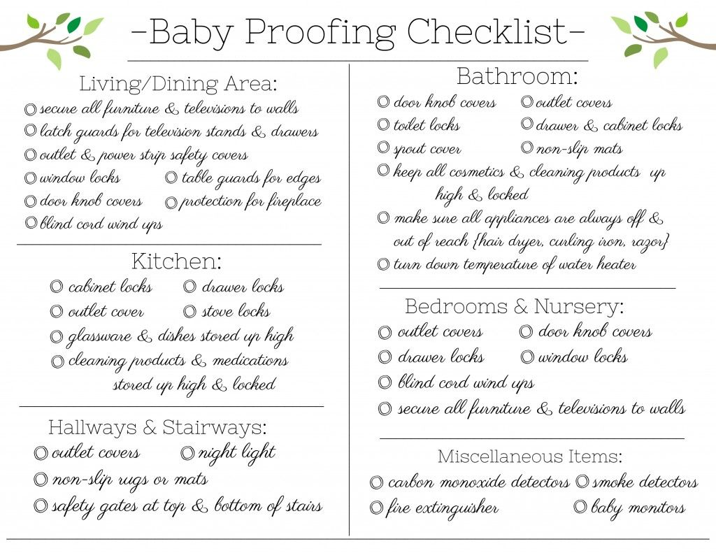Free Baby Proofing Checklist Printable   Free baby stuff ...