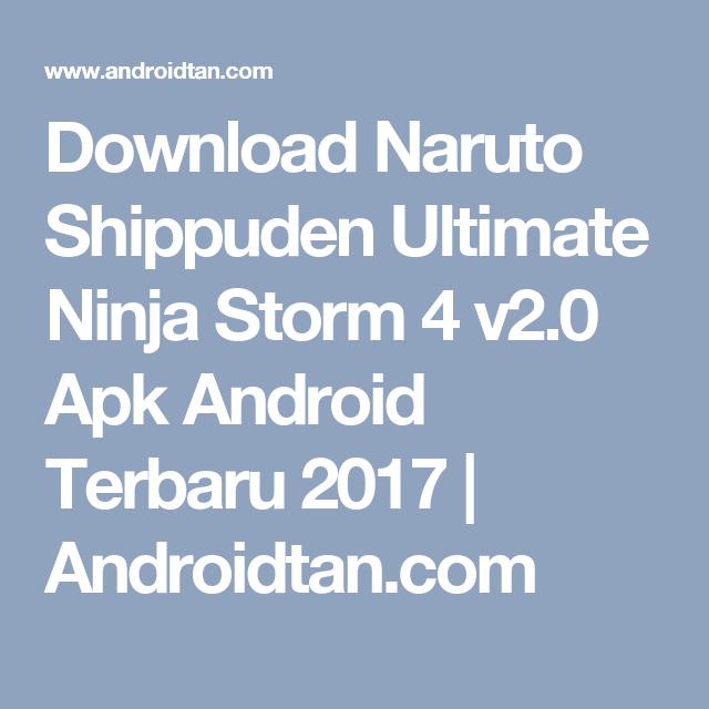 download game naruto shippuden ultimate ninja storm 4 v2.0 apk
