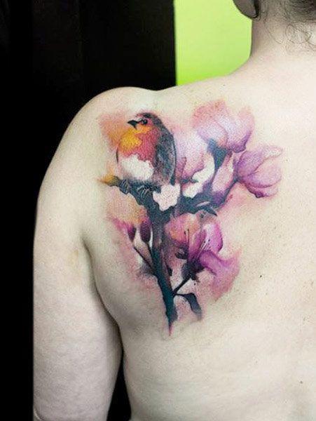 Flowers Tattoo By Klaim Street Tattoo: Birds Tattoo By Klaim Street Tattoo