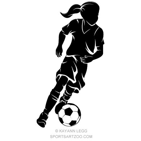 Girl Dribbling A Soccer Ball Silhouette Soccer Ball Soccer Inspiration Soccer Banner