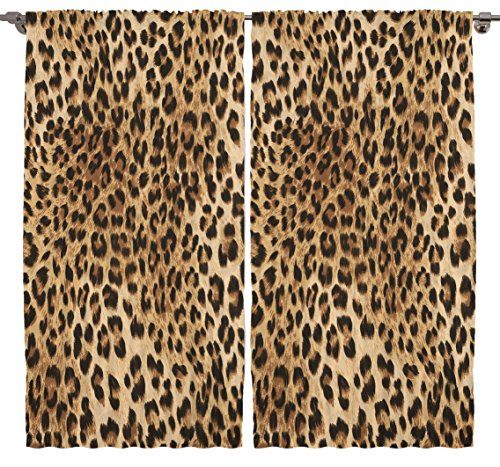 Leopard Tiger Zebra Digital Print Bedroom Living Room Din Https - Amazon living room curtains