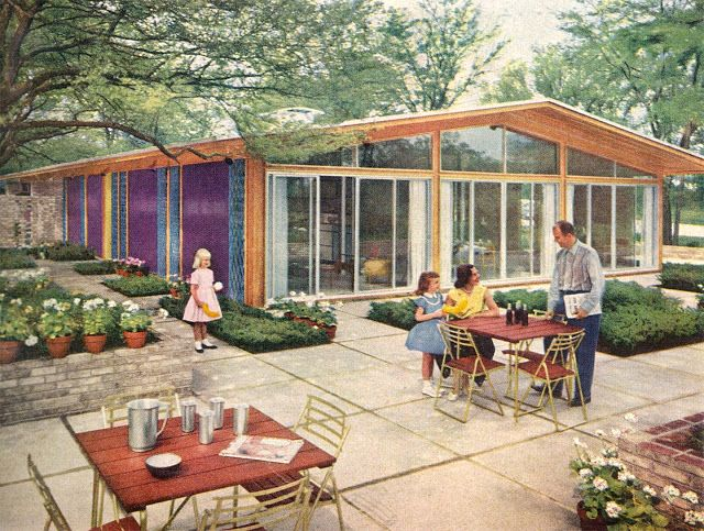 inside out mid century modern home mid century patio design For