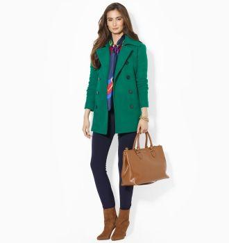 ralph lauren green coat $275