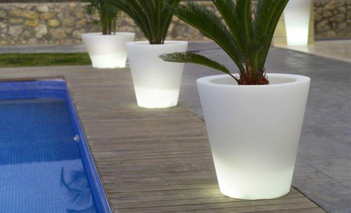 le pot lumineux en 60 images id es de jardin pot. Black Bedroom Furniture Sets. Home Design Ideas