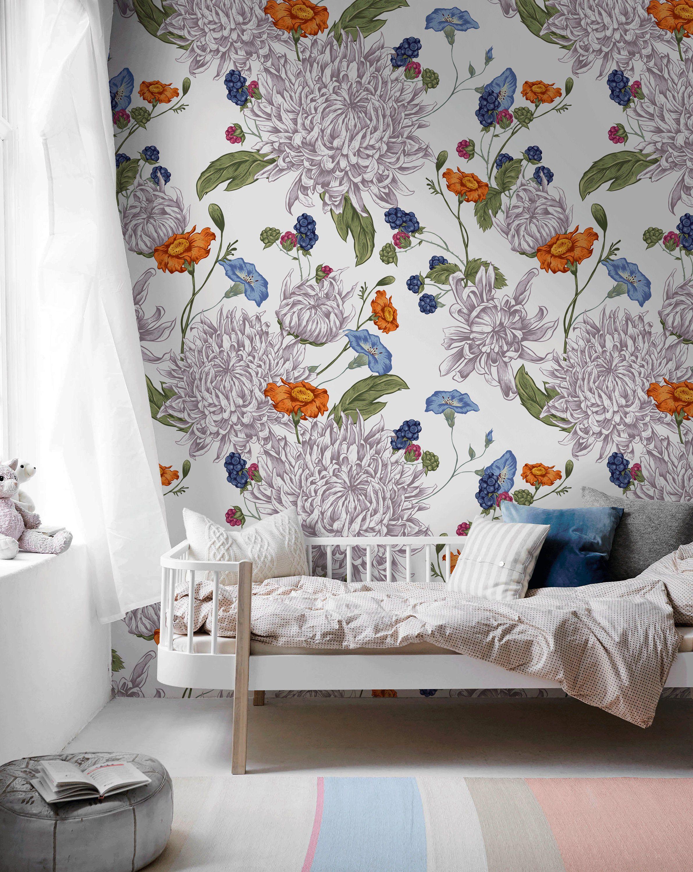 Removable Wallpaper Scandinavian Wallpaper Temporary Wallpaper Etsy Removable Wallpaper Scandinavian Wallpaper Temporary Wallpaper