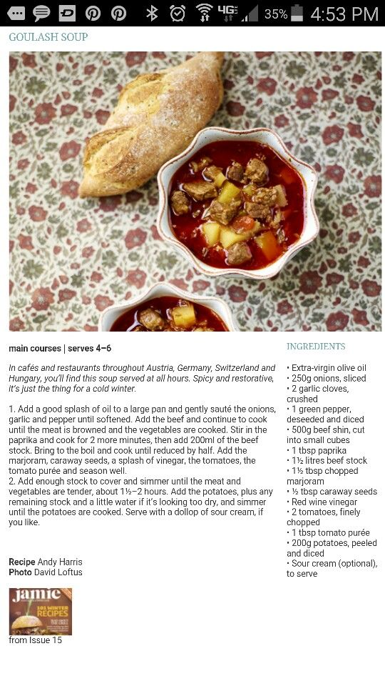 Jamie Oliver Goulash Soup Goulash Soup Recipes Main Course