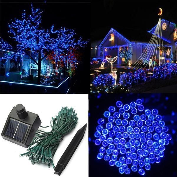 17-Meter String of 100 LED Solar-Powered Fairy Lights-Rama Deals ...