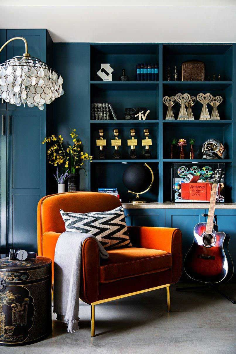 23 Awesome Ideas Of Orange And Blue Living Room Living