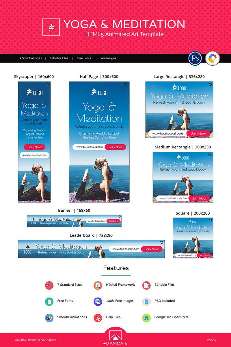 Professional Services Yoga Animated Banners Yoga Meditation Yoga