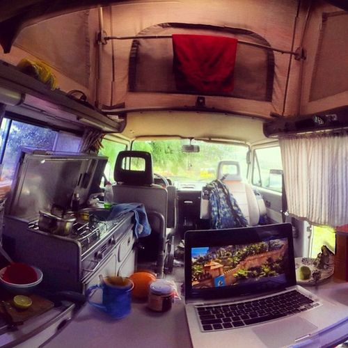 breadboards: volkswagent25: Watching a movie in the van. #barichara #colombia #vanenvan #vanlife #vanagon #westy #westfalia #vw #vwt3 by j...