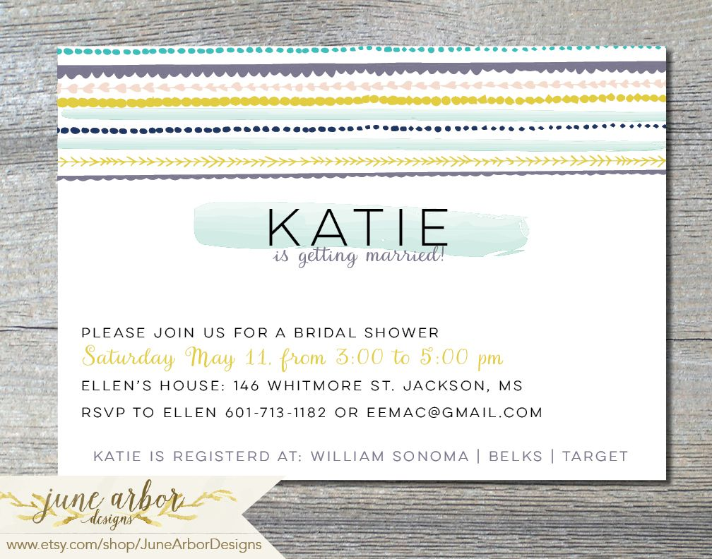 Customizable printable bridal shower invitation available on www.etsy.comshop/junearbordesigns #weddingshower #bridalshower #printableinvitation #aztec