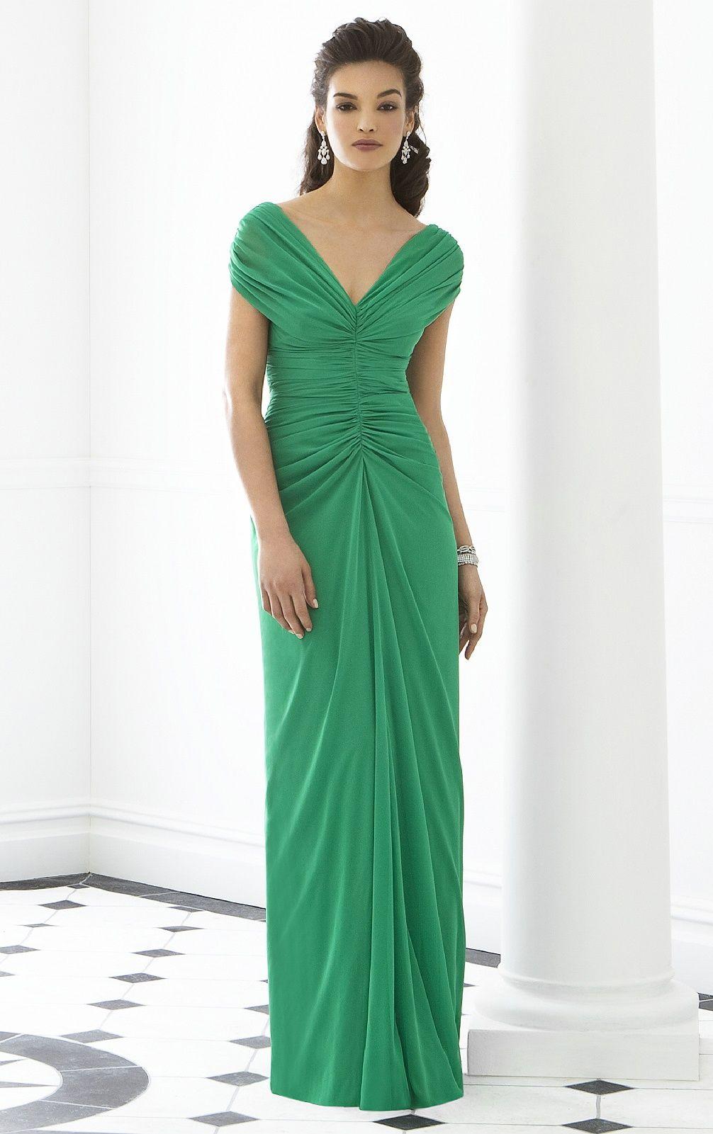 Wedding apparel bridesmaid dresses green zipper deep vneck sheath